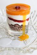 Peach flavoured dessert
