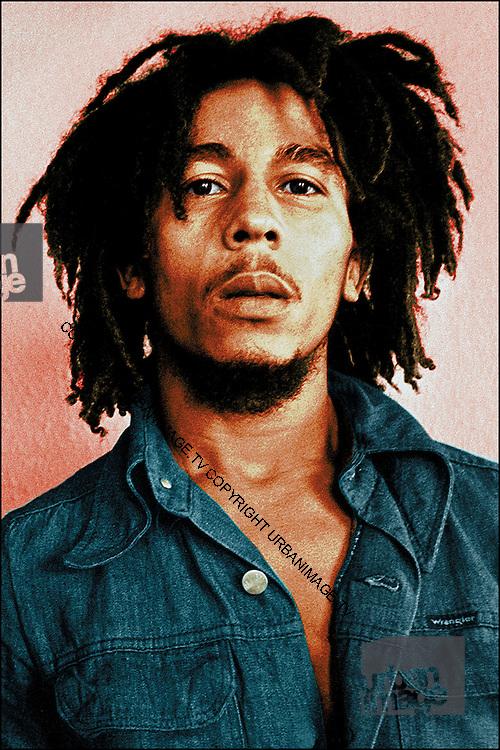 Bob Marley - London - handcoloured