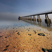 Low tide at Bembridge Lifeboat Station on the isle of wight just days before it was torn down for good