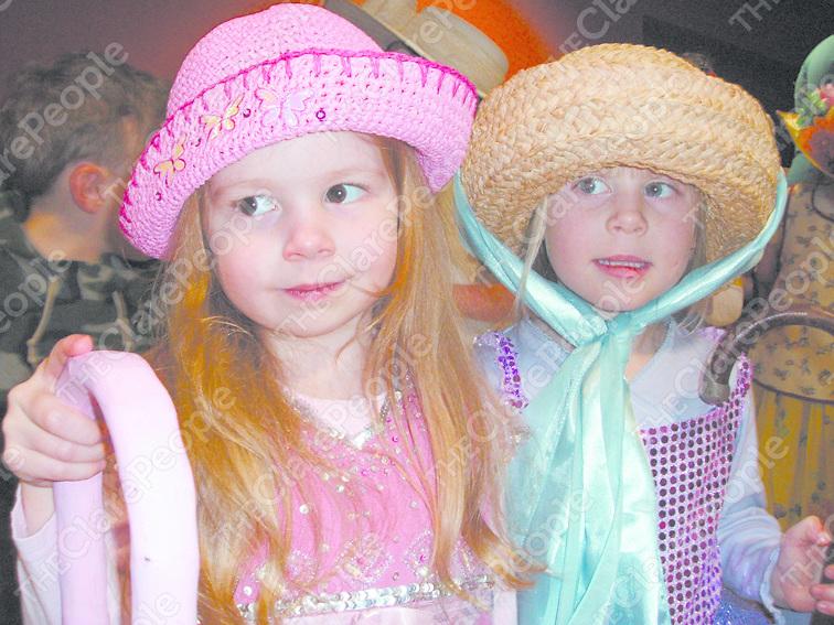 Chloe Thompson and Caoimhe Ingram prepare for curtain-up!