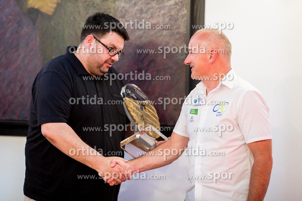 Bogdan Fink in Tomaz Vencelj, 26. dirka Po Sloveniji / Tour of Slovenia 2019, Naj gostitelj, on July 3, 2019 in Idrija, Idrija, Slovenia. Photo by Ziga Zupan / Sportida