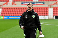 Yeovil Town assistant manager Terry Skiverton before the EFL Sky Bet League 2 match between Swindon Town and Yeovil Town at the County Ground, Swindon, England on 10 April 2018. Picture by Graham Hunt.