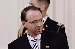 US Deputy Attorney General Rod Rosenstein arrives for Kavanaugh swear-in as Associate Justice of the US Supreme Court in the East room of the White House on October 8, 2018, in Washington, DC. Photo by Olivier Douliery/ Abaca Press
