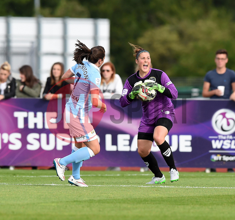 Bristol Academy's Mary Earps in action during the FA Women's Super League match between Bristol Academy Women and Manchester City Women at Stoke Gifford Stadium on 18 July 2015 in Bristol, England - Photo mandatory by-line: Paul Knight/JMP - Mobile: 07966 386802 - 18/07/2015 - SPORT - Football - Bristol - Stoke Gifford Stadium - Bristol Academy Women v Manchester City Women - FA Women's Super League
