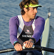 Eton, United Kingdom  Men's Rep singles Semi Final, Charles COUSINS.  2012 GB Rowing Trials, Dorney Lake. Near Windsor Berks Saturday  10/03/2012  [Mandatory Credit; Peter Spurrier/Intersport-images]