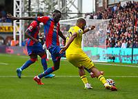 Football - 2021/2022  Premier League - Crystal Palace vs Brentford - Selhurst Park  - Saturday 21st August 2021.<br /> <br /> Bryan Mbeumo (Brentford FC) attempts to cross the ball at Selhurst Park.<br /> <br /> COLORSPORT/DANIEL BEARHAM