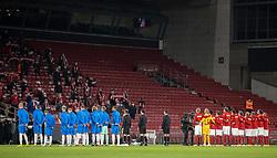 Der var ikke mange tilskuere til kampen i Nations League mellem Danmark og Island den 15. november 2020 i Parken, København (Foto: Claus Birch).