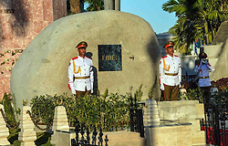 SANTIAGO DE CUBA, Dec. 4, 2016 (Xinhua) -- Image provided by the Cuban News Agency shows honor guards standing at the tomb of Cuban revolutionary leader Fidel Castro, at the Santa Ifigenia Cemetery in the city of Santiago de Cuba, Cuba, on Dec. 4, 2016. The remains of the Cuban revolutionary leader and former President Fidel Castro were buried Sunday morning at the Santa Ifigenia cemetery in Santiago de Cuba. (Xinhua/Marcelino Vazquez/Cuban News Agency) (fnc) (ce) ***MANDATORY CREDIT*** ***NO ARCHIVE-NO SALES*** ***EDITORIAL USE ONLY*** ***BEST QUALITY AVAILABLE* (Credit Image: © [E]Cuban News Agency/Xinhua via ZUMA Wire)