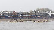 Putney, London, Varsity Boat Race, 07/04/2019, 2019 Oxford v Cambridge, Women's  Race, Women's Race, Championship Course,