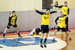 Milos Bozovic of RK Gorenje Velenje before handball match between RK Gorenje Velenje (SLO) and Team Tvis Holstebro (DEN) in 3rd Qualification round of EHF European Cup 2015/16, on November 22, 2014, Rdeca dvorana, Velenje, Slovenia. Photo by Urban Urbanc / Sportida