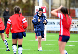 Bristol Bears Women head coach Kim Oliver looks on during warm-up - Mandatory by-line: Paul Knight/JMP - 01/12/2018 - RUGBY - Shaftesbury Park - Bristol, England - Bristol Bears Women v Harlequins Ladies - Tyrrells Premier 15s