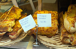 A croque Monsieur (melted cheese sandwish) is a popular quick meal in Paris.