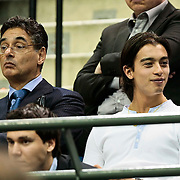 NLD/Rotterdam/20100209 - ABN - Amro Tennistoernooi 2010, advocaat Gerard Spong met zoon Xander