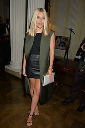 MOLLIE KING at a party to kick off London Fashion Week hosted by US Ambassador Matthew Barzun and Mrs Brooke Brown Barzun with Alexandra Shulman in association with J.Crew hrld at Winfield House, Regent's Park, London on 18th September 2015.