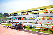 Chungju, South Korea. General Views Boathouse, and other buildings, 2013 FISA World Rowing Championships,  at the Tangeum Lake International Regatta Course. 11:47:18  Saturday  24/08/2013 [Mandatory Credit. Peter Spurrier/Intersport Images]