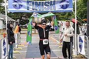 Chris Hague wins the male division of the 2018 Hague Endurance Festival Olympic Triathlon