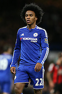 Willian of Chelsea looks on. Barclays Premier league match, Chelsea v AFC Bournemouth at Stamford Bridge in London on Saturday 5th December 2015.<br /> pic by John Patrick Fletcher, Andrew Orchard sports photography.