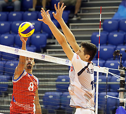 September 12, 2018 - Varna, Bulgaria - from left Eddie RIVERA (Puerto Rico), Saber KAZEMI (Iran), .FIVB Volleyball Men's World Championship 2018, pool D, Iran vs Puerto Rico,. Palace of Culture and Sport, Varna/Bulgaria, .the teams of Finland, Cuba, Puerto Rico, Poland, Iran and co-host Bulgaria are playing in pool D in the preliminary round. (Credit Image: © Wolfgang Fehrmann/ZUMA Wire)