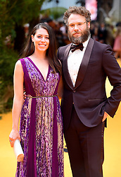 Seth Rogen and Lauren Miller attending Disney's The Lion King European Premiere held in Leicester Square, London.