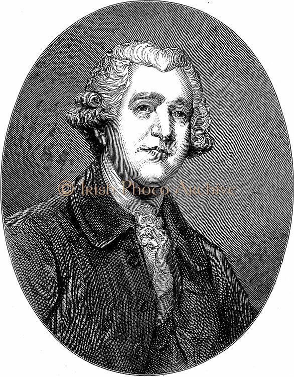 Josiah Wedgwood (1730-1795) English potter and industrialist. Wood engraving after portrait by Joshua Reynolds.