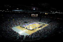 Arena Zagreb at second semifinal match of League NLB Final Four tournament  between KK Cibona Zagreb and KK Union Olimpija Ljubljana, on April 23, 2010, in Arena Zagreb, Zagreb, Croatia. (Photo by Vid Ponikvar / Sportida)