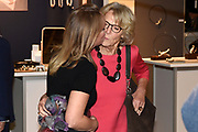 Prinses Margarita de Bourbon de Parme bij de vijftiende editie van de Sieraad Art Fair in de Gashouder op het WesterGasterrein in Amsterdam<br /> <br /> Princess Margarita de Bourbon de Parme at the fifteenth edition of the Jewellery Art Fair in the Gasometer in Westergasterrein in Amsterdam<br /> <br /> Op de foto / On the photo:  Prinses Irene en Prinses Margarita de Bourbon de Parme