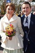 De koninklijke familie is in Zwolle voor de viering van Koningsdag. /// The royal family is in Zwolle for the celebration of King's Day.<br /> <br /> Op de foto / On the photo:  Prinses Marilen en Prins Maurits