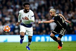 Danny Rose of Tottenham Hotspur takes on Hakim Ziyech of Ajax - Mandatory by-line: Robbie Stephenson/JMP - 30/04/2019 - FOOTBALL - Tottenham Hotspur Stadium - London, England - Tottenham Hotspur v Ajax - UEFA Champions League Semi-Final 1st Leg