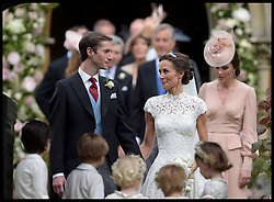 May 20, 2017 - London - Pippa Middleton wedding to James Matthews. ..The wedding of Pippa Middleton and James Matthews at St Mark's Church, Englefield, Berkshire,  Pictured are the Bride and Groom with their bridesmaids and pageboys in the foreground. (Credit Image: © i-Images via ZUMA Press)