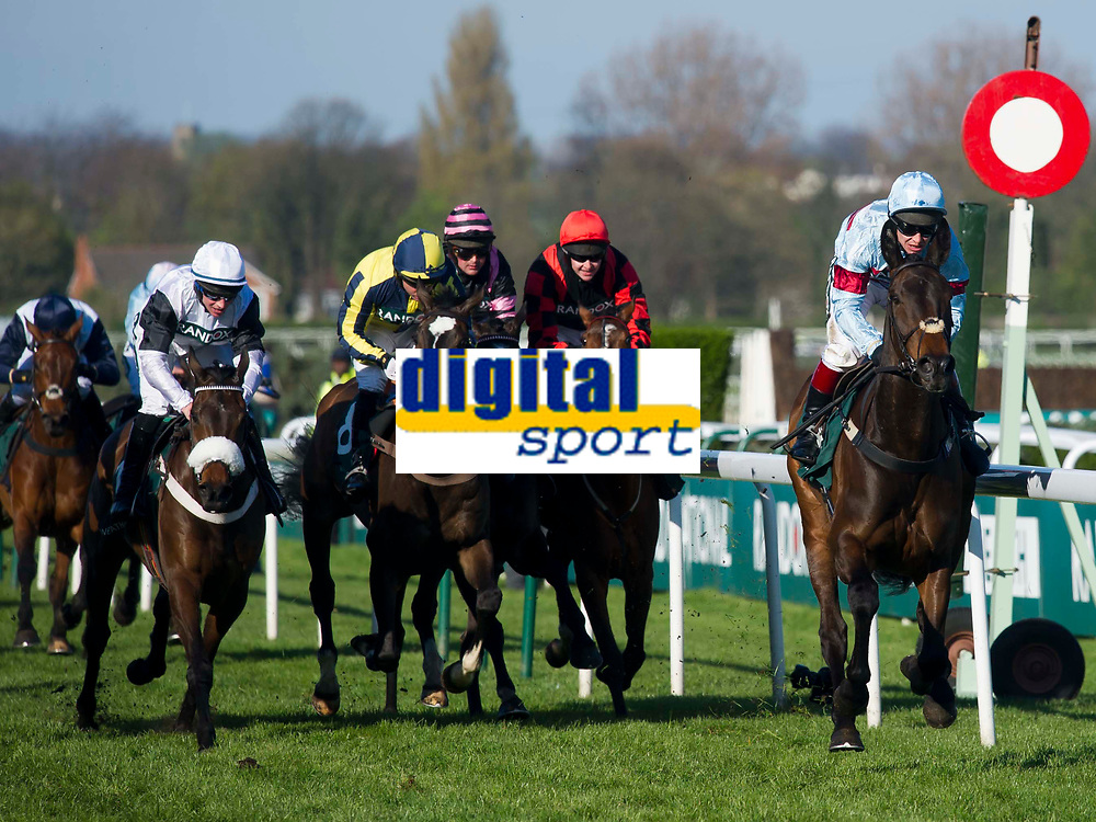 Grand National Meeting - Ladies' Day<br /> e.g. of caption:<br /> National Hunt Horse Racing - 2017 Randox Grand National Festival - Friday, Day Two [Ladies' Day]<br /> <br />   <br /> Richard Johnson non Lalor wins in the 7th race Weatherbys Private Bank Standard Open NH Flat Race (Grade 2) (Class 1)2m 209y, Good<br /> 19 Runners.at Aintree Racecourse.<br /> <br /> COLORSPORT/WINSTON BYNORTH