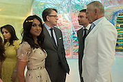 Jackie St. Clair; LORD PETER MANDELSON; Reinaldo Avila da Silva; Carl Michaelson, Serpentine's Summer party co-hosted with Christopher Kane. 15th Serpentine Pavilion designed by Spanish architects Selgascano. Kensington Gardens. London. 2 July 2015.