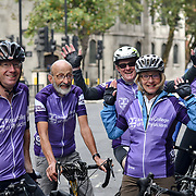 A group of cyclist outside 180 Strand, , London, UK. 23 September 2018.
