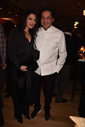 Francesco Mazei and his wife Maria at the launch of Fiume at Battersea Power Station, Battersea, London England. 16 November 2017.<br /> Photo by Dominic O'Neill/SilverHub 0203 174 1069 sales@silverhubmedia.com