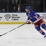 Derick Brassard, New York Rangers, in action during the New York Rangers Vs Philadelphia Flyers, NHL regular season game at Madison Square Garden, New York, USA. 26th March 2014. Photo Tim Clayton