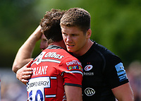 Rugby Union - 2018 / 2019 Gallagher Premiership - Play-Off Semi-Final: Saracens vs. Gloucester<br /> <br /> Saracens' Owen Farrell with Gloucester's Danny Cipriani after their 44-19 victory, at Allianz Park.<br /> <br /> COLORSPORT/ASHLEY WESTERN
