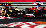 Hungarian Grand Prix 2013<br /> our best selection from Award winning Photographer Darren Heath.<br /> Alonso and Grosjean during the race<br /> ©Darren Heath/Exclusivepix