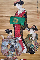 Japon, île de Honshu, Kansai, Osaka, le musée de l'Histoire d'Osaka, The beauty par Tukioka Settei, 18 e siecle// Japon, Honshu, Kansai, Osaka, History museum of Osaka, The beauty by Tukioka Settei, 18th century