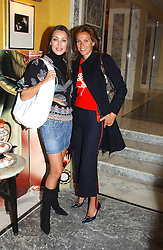 Left to right, TAMARA MELLON and ARABELLA BODIE at the launch of MAC's High Tea collection with leading British designers held at The Berkeley Hotel, London on 17th January 2005.  MAC has collabroated with The Berkeley's Pret-a-Portea, which adds a creative twist to th classic elements of the English afternoon tea with cakes and pastries inspired by fashion designs.<br /><br />NON EXCLUSIVE - WORLD RIGHTS