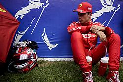 September 1, 2019, Francorchamps, Belgium: CHARLES LECLERC of Scuderia Ferrari on the starting grid before the Formula 1 Belgian Grand Prix at Circuit de Spa-Francorchamps in Francorchamps, Belgium. (Credit Image: © James Gasperotti/ZUMA Wire)