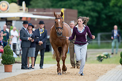 Lisa Sabbe (BEL) & GQ (Prince of Rides) - First Horse Inspection - CCI4* - Luhmuhlen 2014 - Salzhausen, Germany - 11 June 2014
