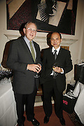 Will Wyatt and Jimmy Choo. Sir Peter Blake and Poppy De Villeneuve host a party with University of the Arts London at the Arts Club, Dover Street, London. 20 APRIL 2006<br />