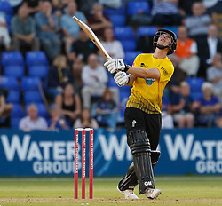 Miles Hammond skies the ball and is caught by Glamorgan's Usman Khawaja<br /> <br /> Photographer Simon King/Replay Images<br /> <br /> Vitality Blast T20 - Round 8 - Glamorgan v Gloucestershire - Friday 3rd August 2018 - Sophia Gardens - Cardiff<br /> <br /> World Copyright © Replay Images . All rights reserved. info@replayimages.co.uk - http://replayimages.co.uk