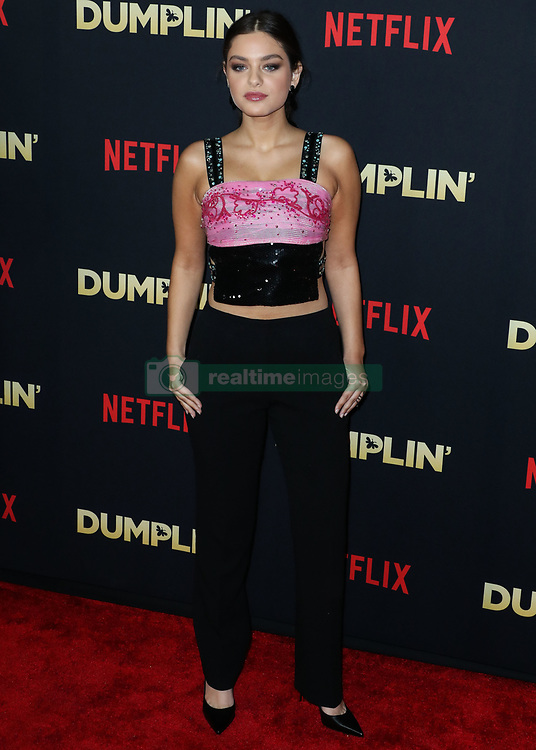 HOLLYWOOD, LOS ANGELES, CA, USA - DECEMBER 06: Singer Dolly Parton arrives at the Los Angeles Premiere Of Netflix's 'Dumplin'' held at the TCL Chinese Theatre IMAX 6 on December 6, 2018 in Hollywood, Los Angeles, California, United States. 06 Dec 2018 Pictured: Odeya Rush. Photo credit: Xavier Collin/Image Press Agency/MEGA TheMegaAgency.com +1 888 505 6342