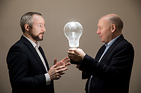 """No repro fee<br /> 15-1-2017<br /> Caption: Pictured ahead of the EirGrid Conference """"Planning for our Energy Future"""" are (L-R)  Jim Gannon, CEO of the Sustainable Energy Authority of Ireland ; and Fintan Slye, EirGrid Chief Executive, who will address up to 300 delegates at the conference in Dublin Castle on Thursday 26 January. The keynote speaker Dr Fatih Birol, Executive Director of the International Energy Agency (IEA) in Paris, has been named by Forbes magazine among the most influential people on the world's energy scene.Pic:Naoise Culhane-no fee"""