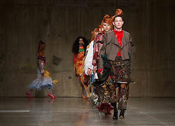 Models during the ASAI Fashion East Autumn/Winter 2017 London Fashion Week show at the Topshop Show Space, Tate Modern, London. PRESS ASSOCIATION. Picture date: Saturday February 18, 2017. Photo credit should read: Isabel Infantes/PA Wire