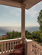 Camogli, Liguria, a small terrace of a old house