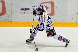 Andreas Wiedergut (EC Rekord Fenster VSV, #33) during ice-hockey match between HK Acroni Jesenice and EC Rekord Fenster VSV in 37th Round of EBEL league, on Januar 3, 2012 at Dvorana Podmezaklja, Jesenice, Slovenia. (Photo By Matic Klansek Velej / Sportida)