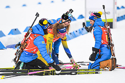March 16, 2019 - –Stersund, Sweden - 190316 Hanna Öberg, Linn Persson, Anna Magnusson and Mona Brorsson of Sweden celebrates after  the Women's 4x6 km Relay during the IBU World Championships Biathlon on March 16, 2019 in Östersund..Photo: Petter Arvidson / BILDBYRÃ…N / kod PA / 92268 (Credit Image: © Petter Arvidson/Bildbyran via ZUMA Press)