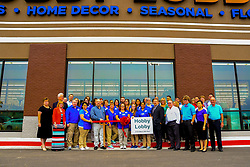 August 14, 2017 - Emporia, Kansas, U.S - People line up to be the first inside of the newest Hobby Lobby store at the grand opening today in Emporia, Kansas August 13. 2017. (Credit Image: © Mark Reinstein via ZUMA Wire)