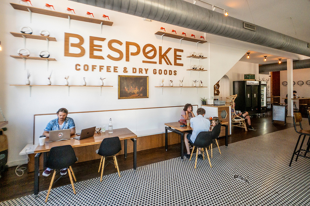 Comfortable workspace environment at Bespoke Coffee & Dry Goods in Wilmington, North Carolina on Thursday, August 12, 2021. Copyright 2021 Jason Barnette